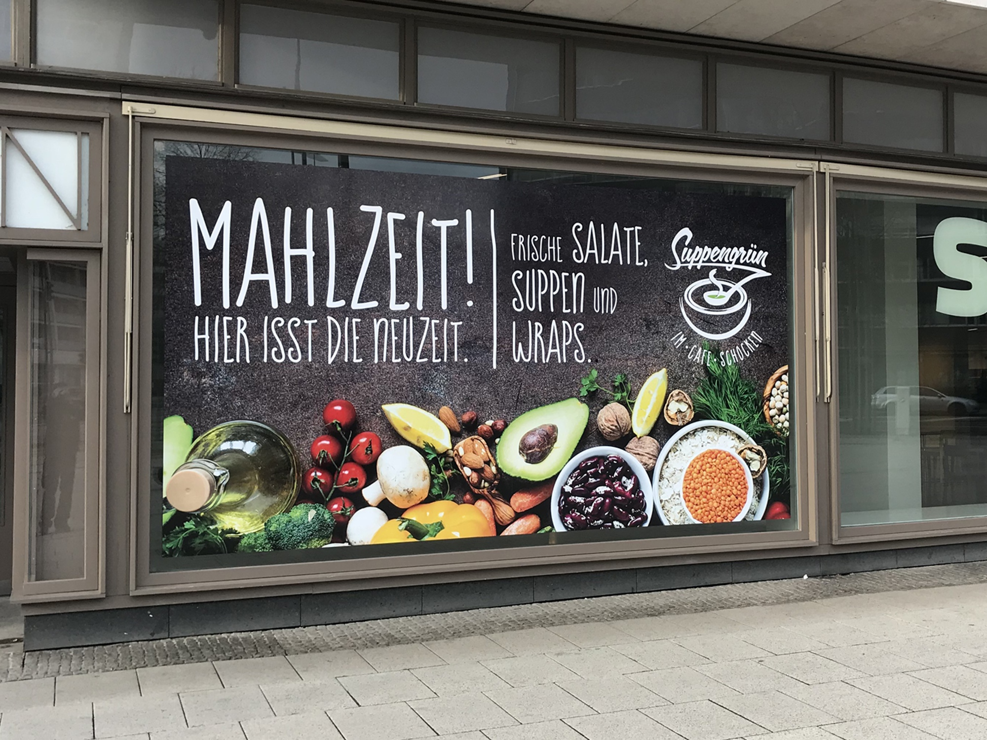 Folienprint Restaurant Suppengrün im SMAC Chemnitz
